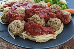 Vegan lentil meatless meatballs